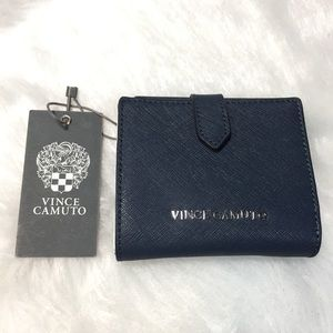 NWT Vince Camuto fall navy blue hena wallet bifold